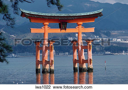Stock Photo of Japan, Hiroshima Perfecture, Miyajima (island.
