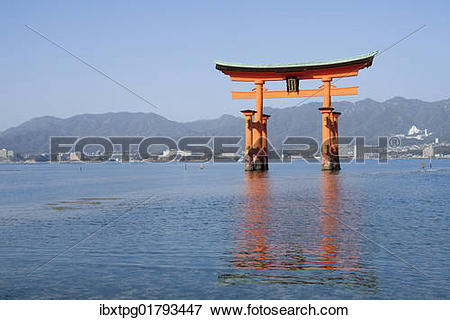 "Picture of ""Torii at the Itsukushima Shrine, Shinto shrine."