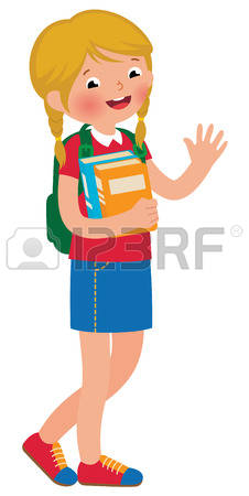 Ittle Lgirl Student Clipart Without Background.