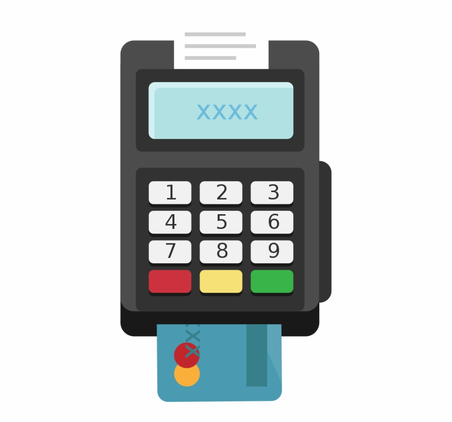 Credit Card Machine Clip Art.