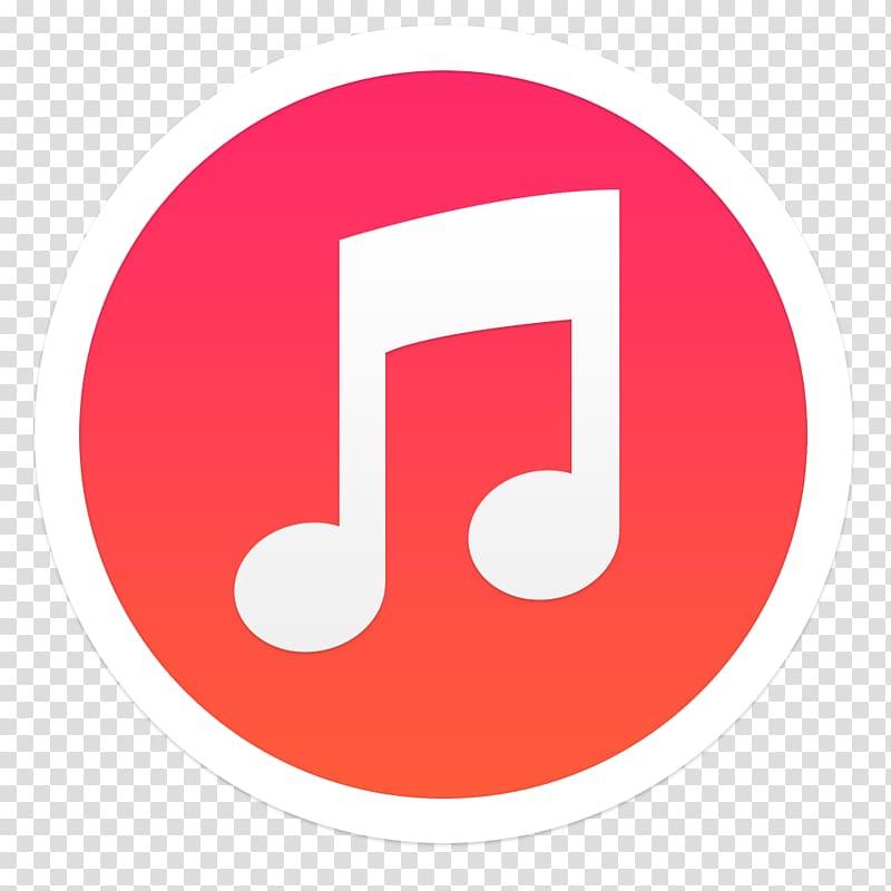 Music logo, area text symbol number, iTunes transparent.