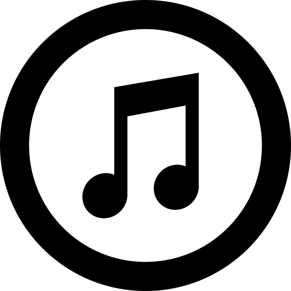 Itunes Logo Of Amusical Note Inside A Circle Svg Png Icon Free.