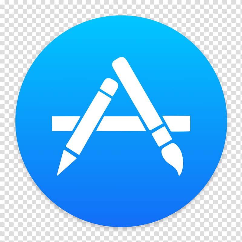 App Store for MacOS, Apple Store logo transparent background PNG.