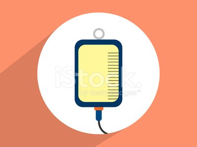 IV bag ,Flat design style Clipart Image.