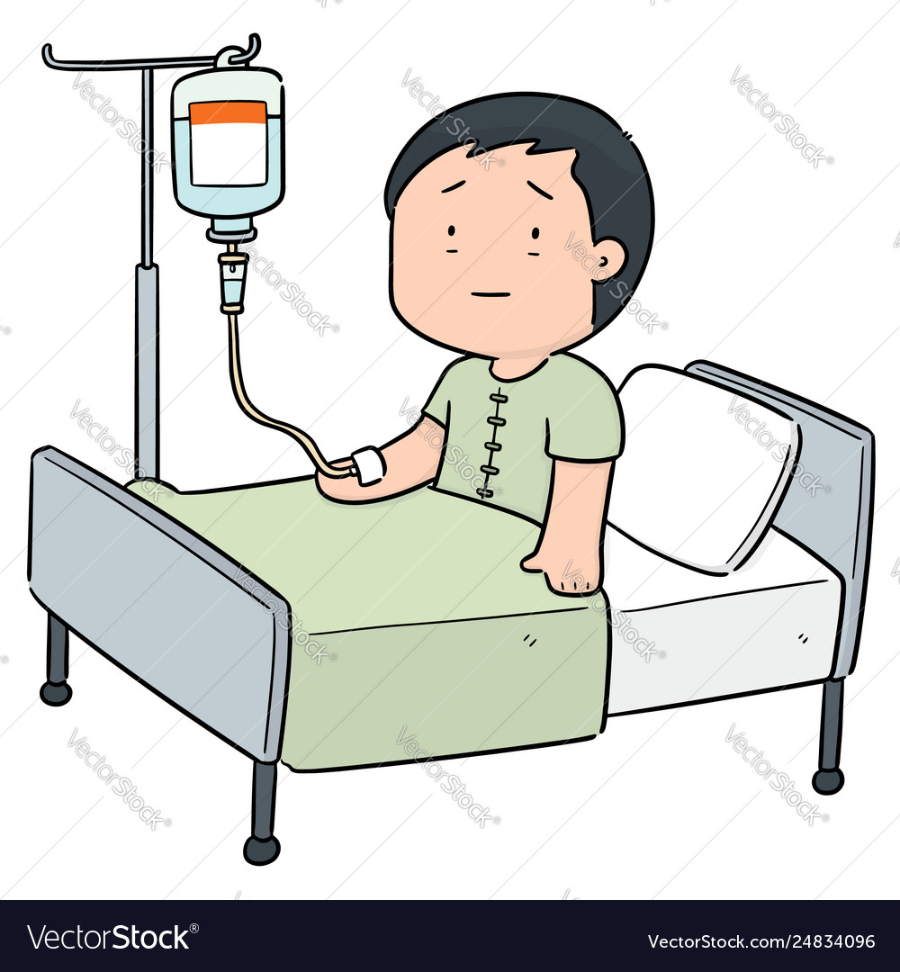 Patient using infusion medicine.