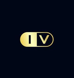 Initial letter iv logo template design.