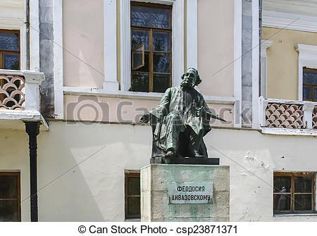 Picture of Monument artist Ivan Aivazovsky, Theodosia. Crimea.