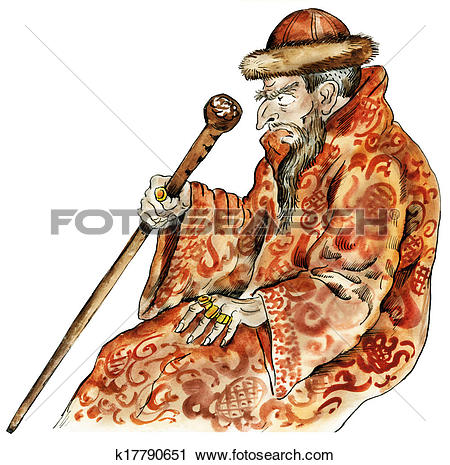 Clipart of Tsar Ivan the Terrible k17790651.
