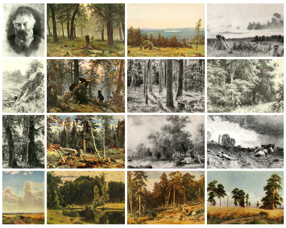 Ivan Shishkin Set of 16 Postcards Russian by RealTreasureBox.