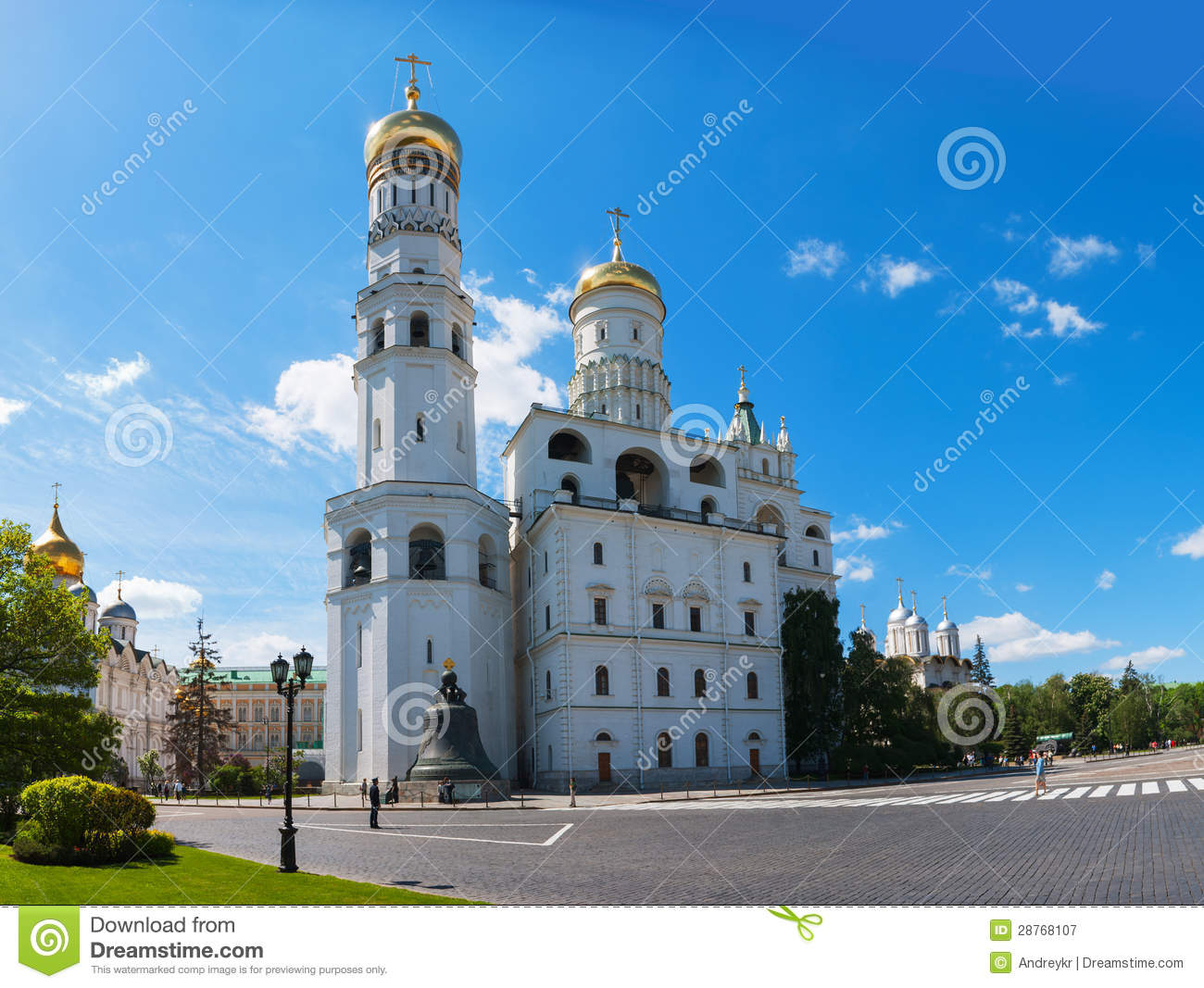 Ivan The Great Bell Tower At Moscow Kremlin Royalty Free Stock.