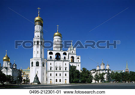 Stock Photography of Russia, Moscow, Kremlin, Ivan The Great Bell.