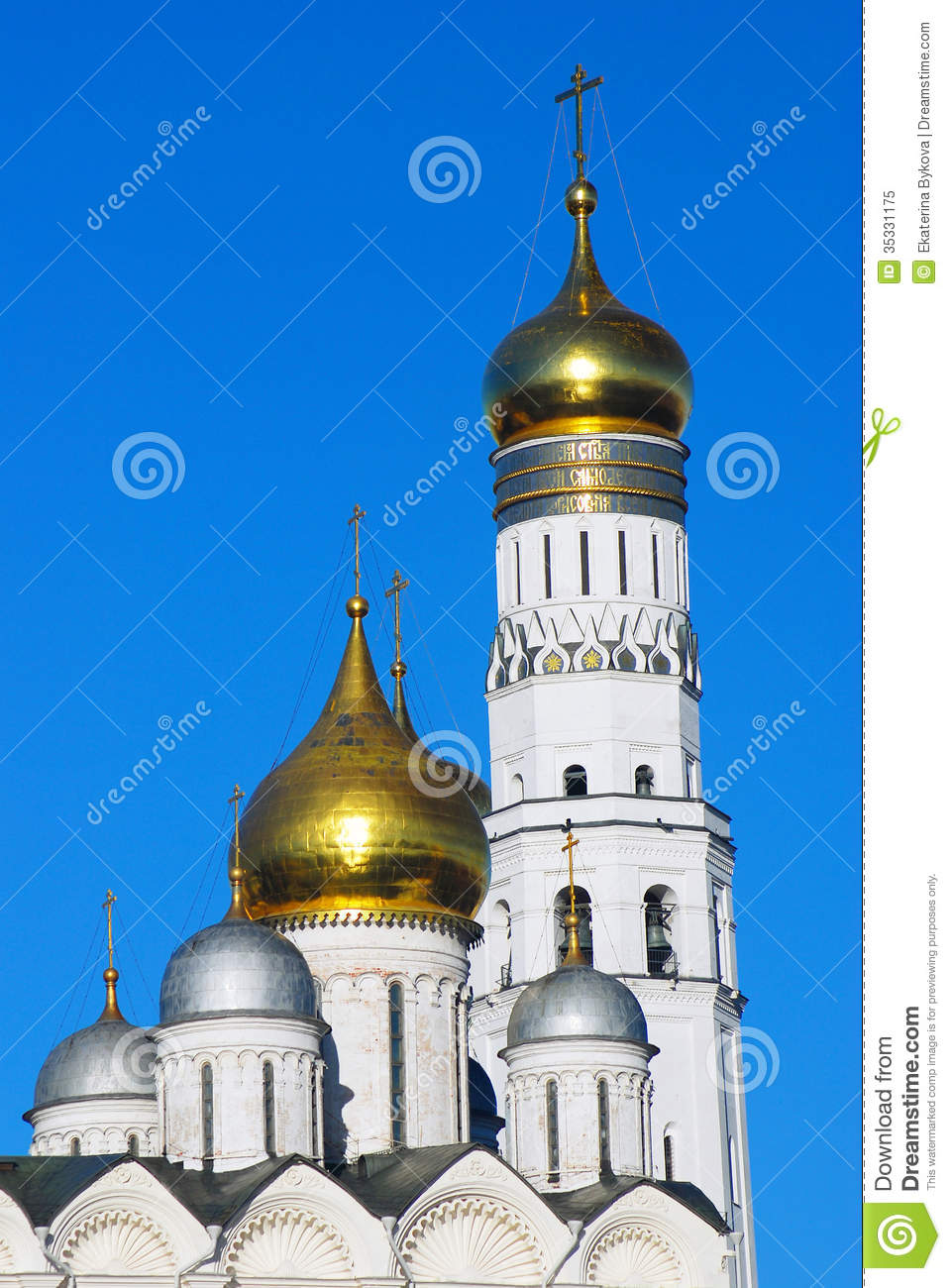 Ivan The Great Bell Tower, Arkhangels Cathedral. Royalty Free.