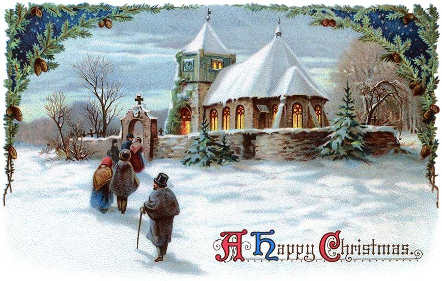 Vintage Religious Christmas Clipart.