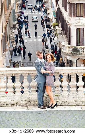 Stock Photo of Couple together in Piazza di Spagna Rome Italy x3x.