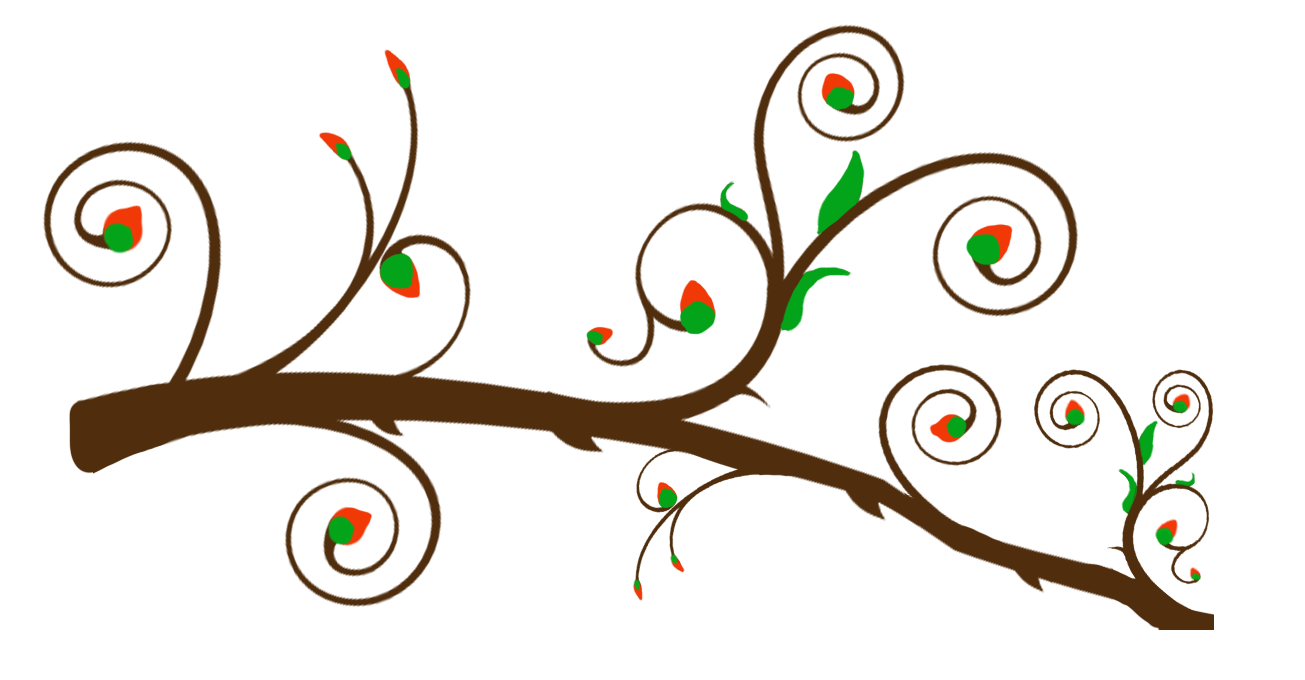 Christmas Ivory Branch Clipart.