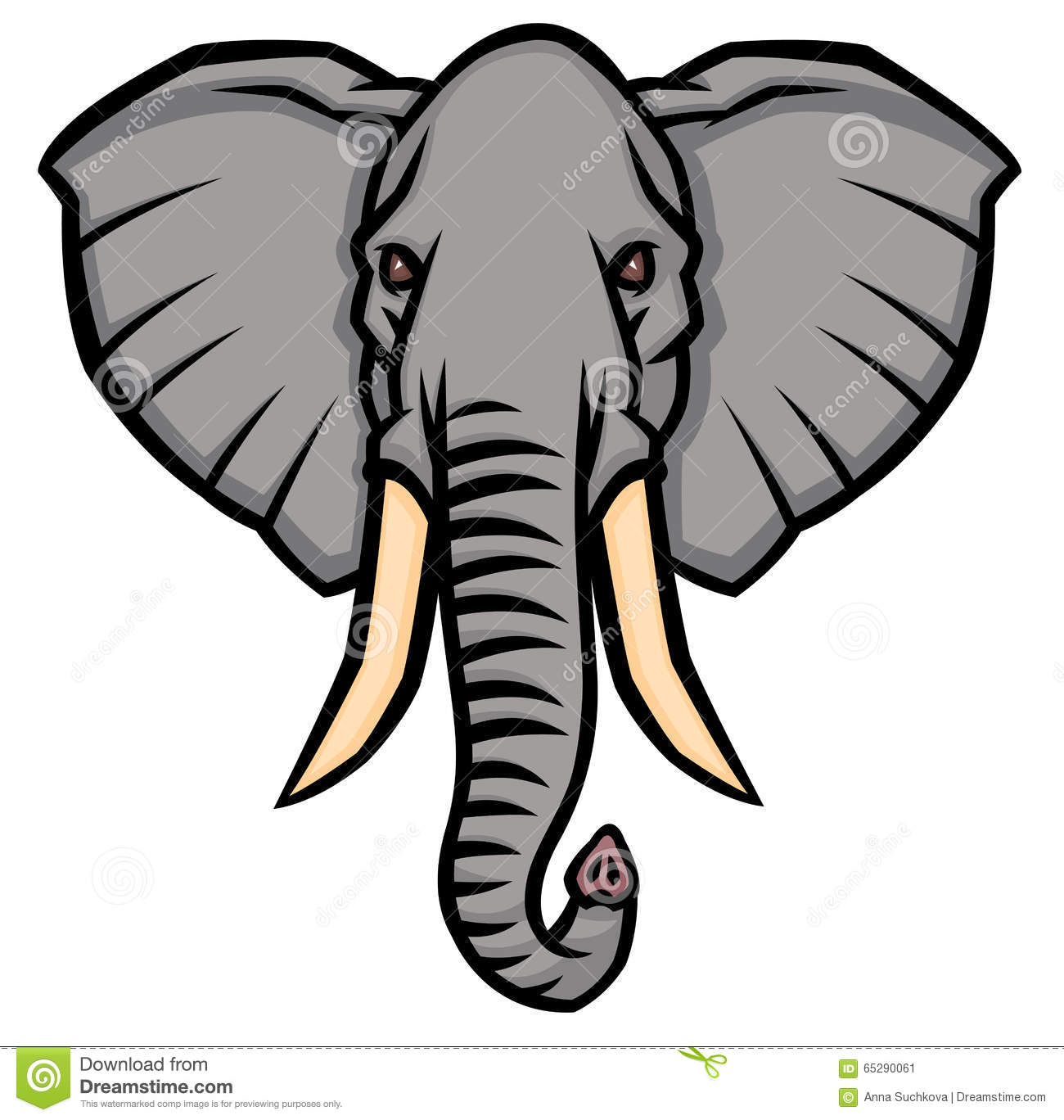 Elephant tusks clipart.