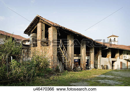 Stock Images of An abandoned house in Albiano d'Ivrea, Italy.