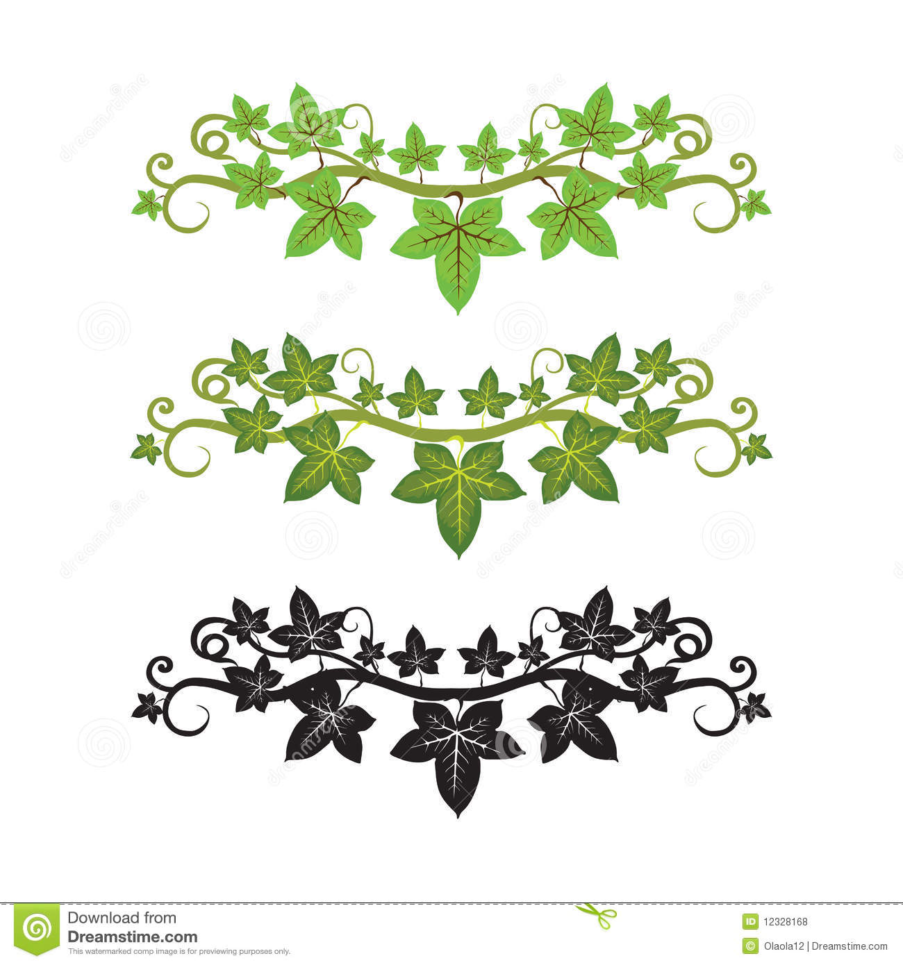 Ivy border clip art free.