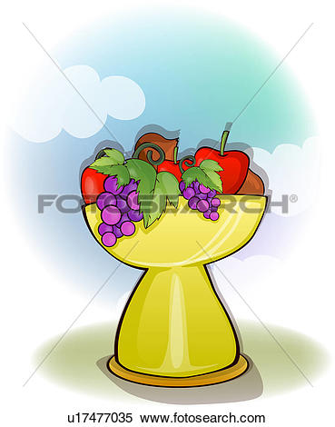 Clipart of ivy, fruit, leaves, cross, religion, twisted.