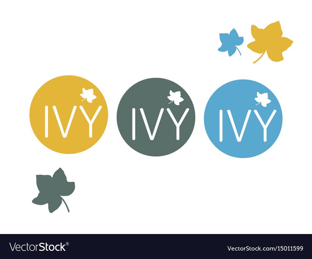 Cafe retail restaurant round logo ivy.