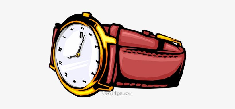 Wristwatch Royalty Free Vector Clip Art Illustration.