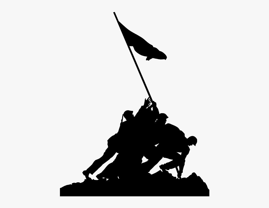 Iwo Jima Memorial Silhouette , Transparent Cartoon, Free.