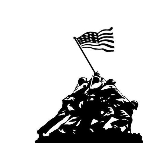 FREE Shipping! Large Vinyl Iwo Jima Decal CLOSEOUT SALE.