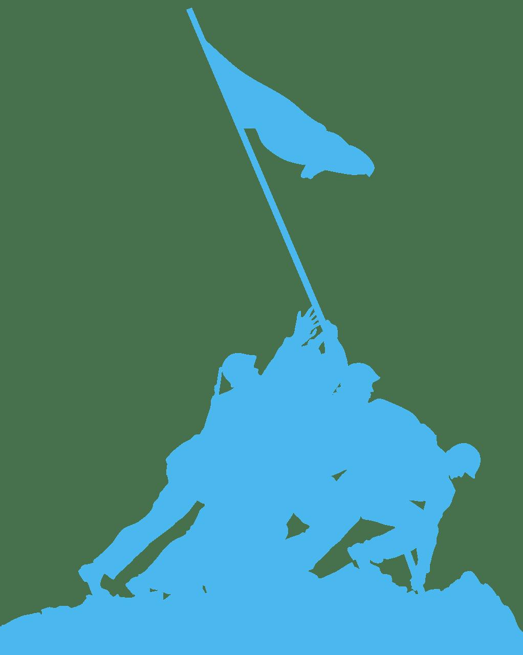 Iwo Jima silhouette.
