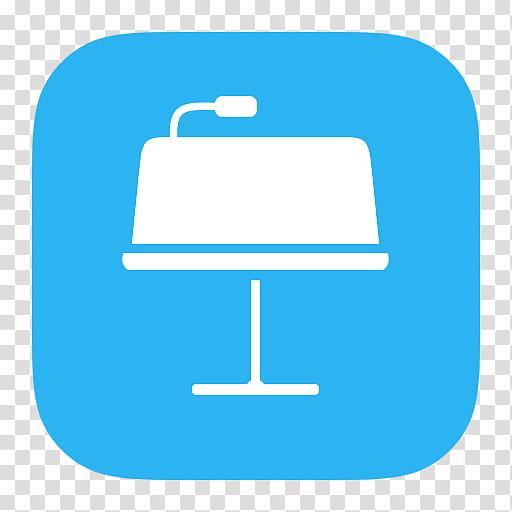 IWork icons, Keynotes_Flat, white and blue logo transparent.
