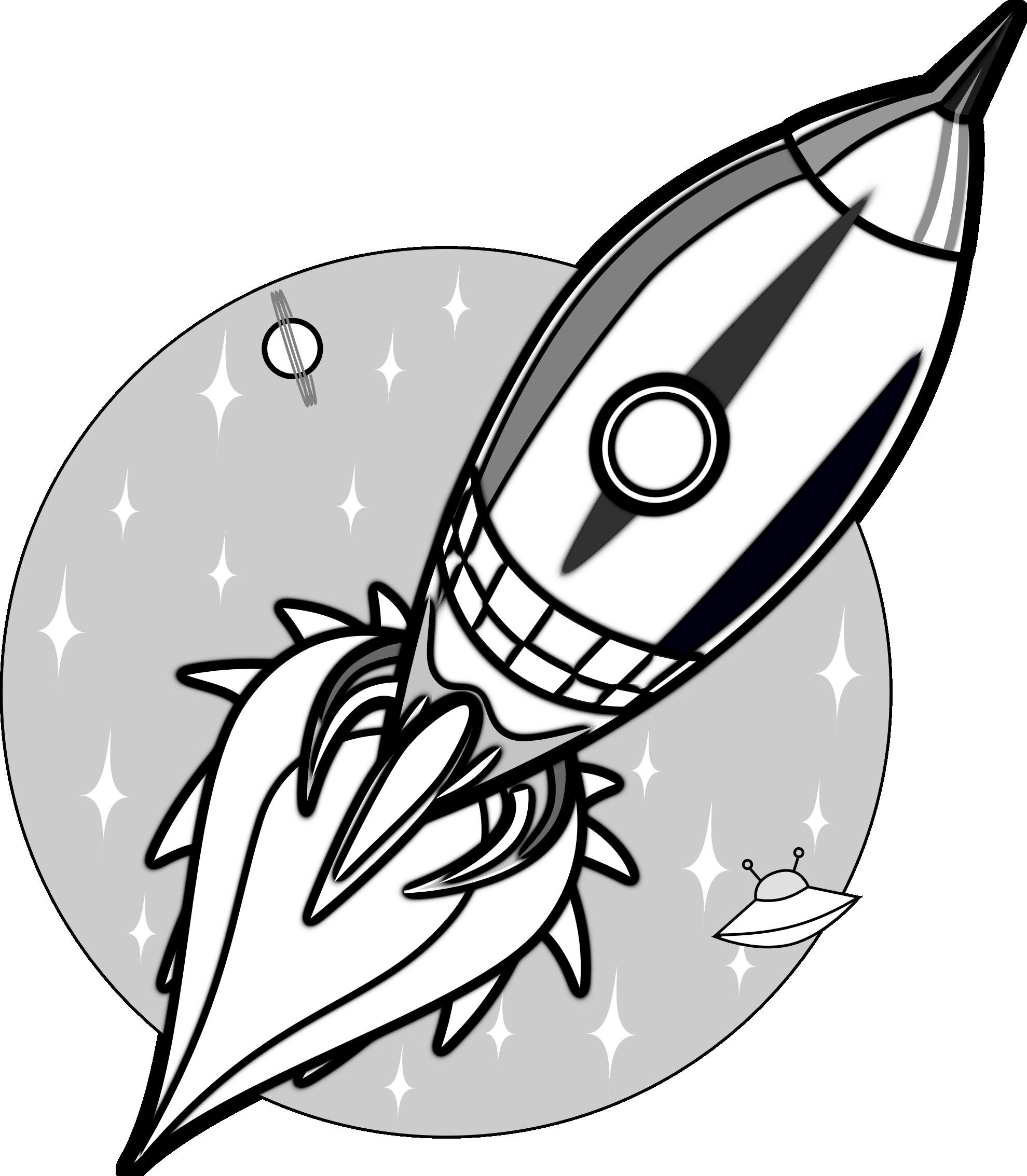 Space rocket clip art outline pics about space 2 image.