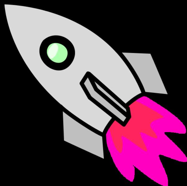 Rocket clipart grey image.