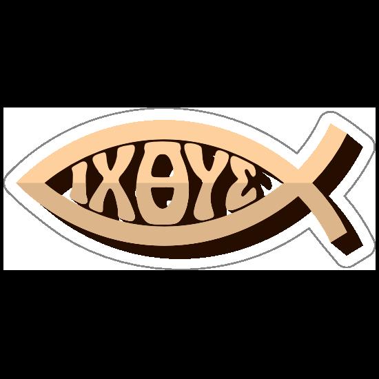 Ixoye Ichthus Sticker.
