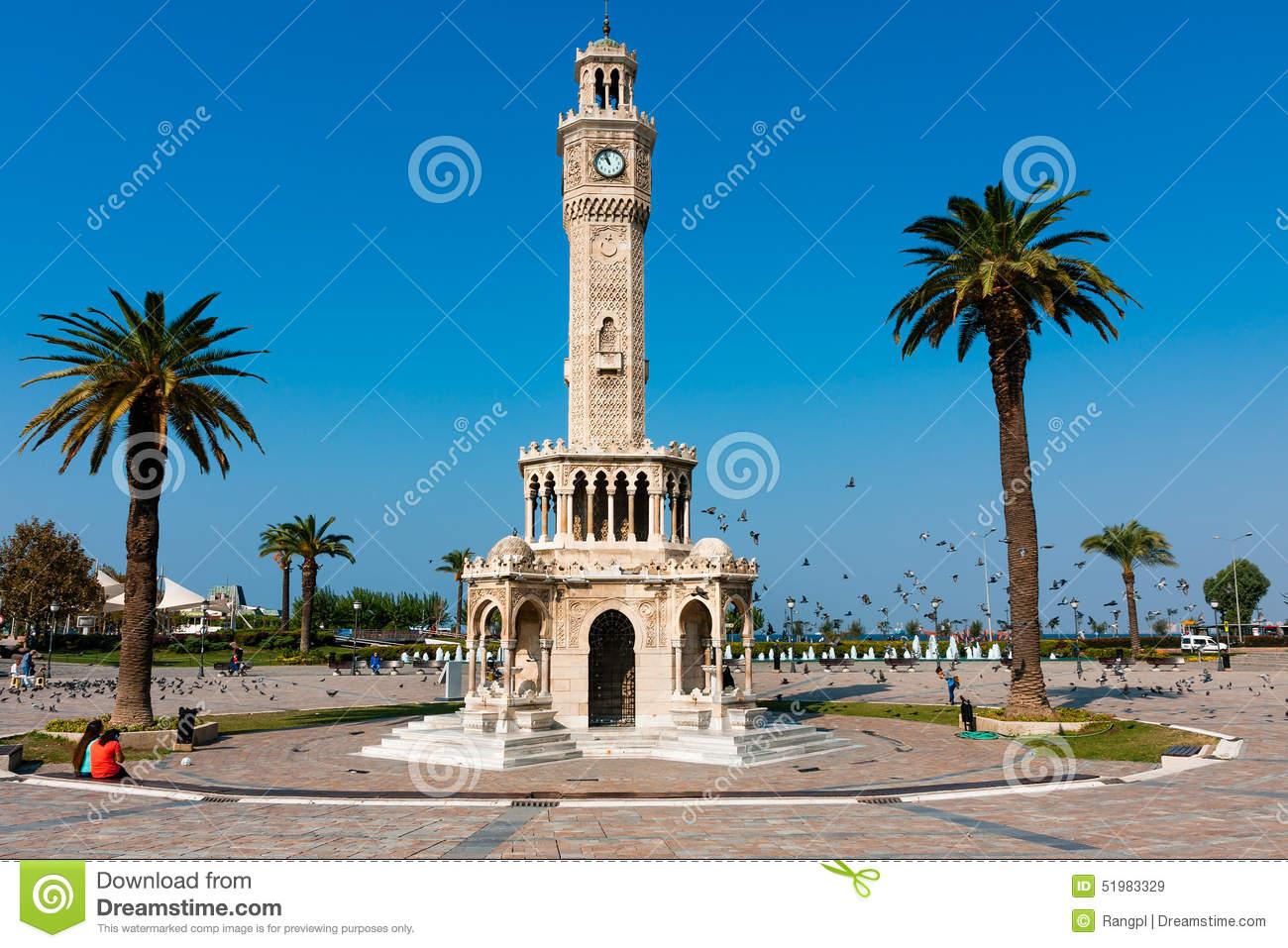 Izmir, Clock Tower At The Konak Square Editorial Stock Image.