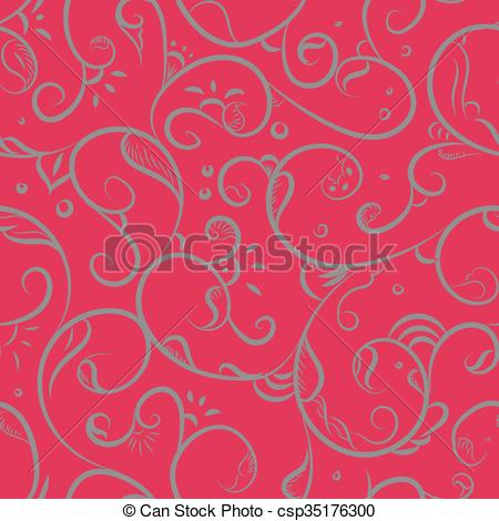 Vector Clipart of Floral Iznik Pattern.