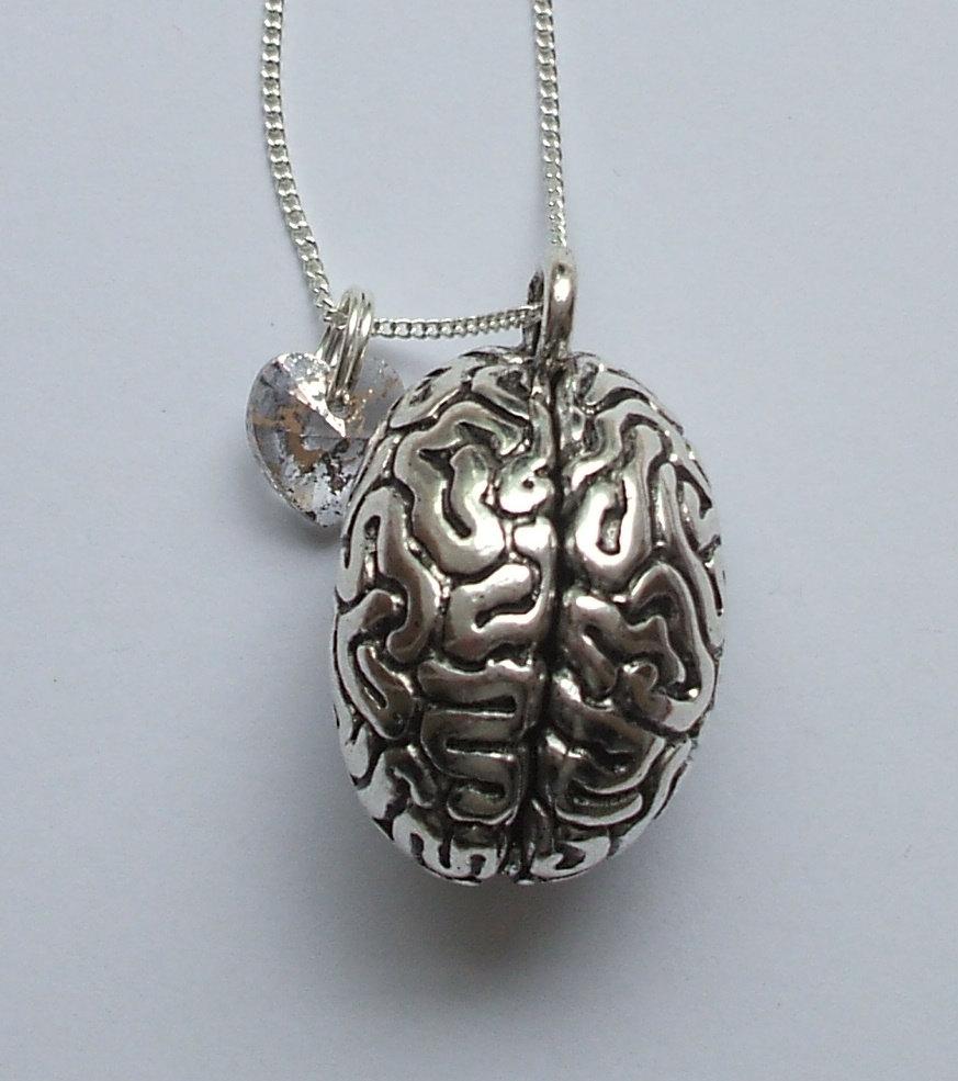 CW iZombie Brain Charm Necklace.