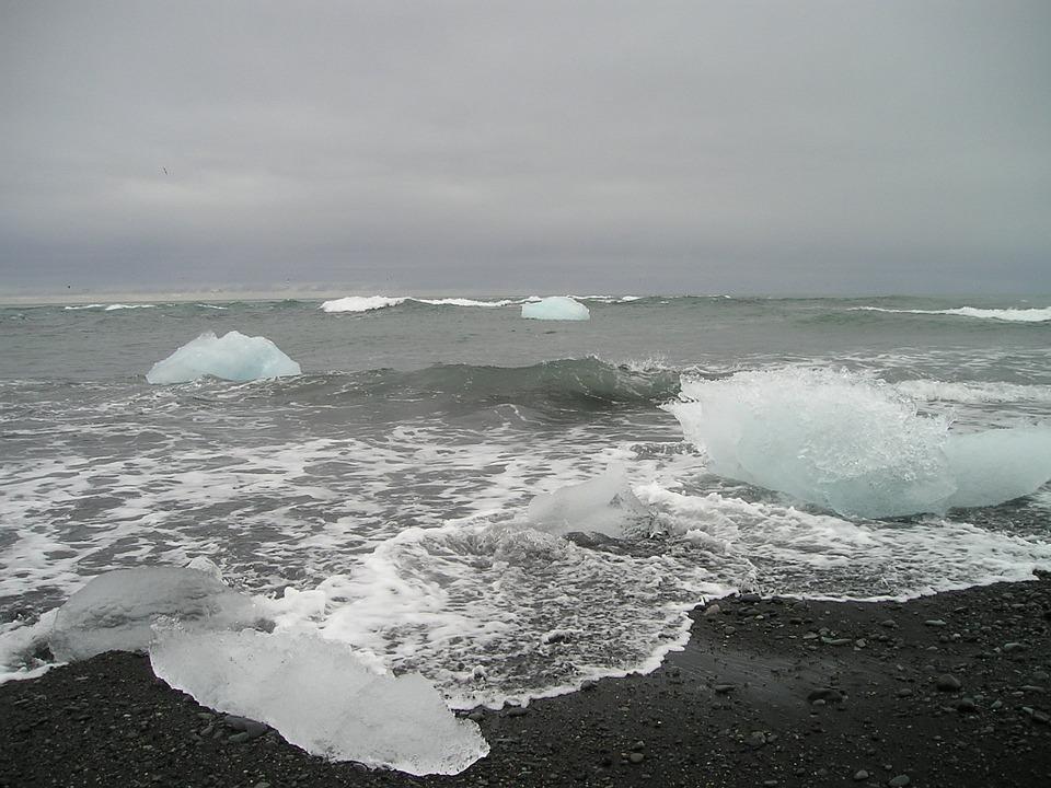 북극, 바다.