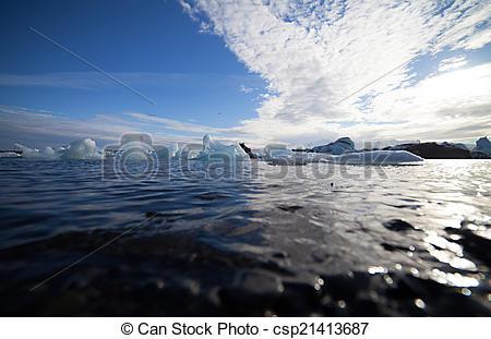 Pictures of Iceberg Lagoon, Jokulsarlon lake, Iceland.