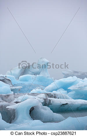 Stock Photo of Jokulsarlon is a large glacial lake in southeast.