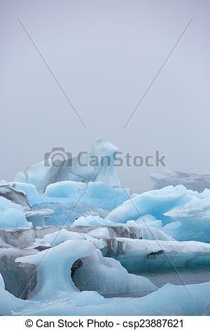 Stock Photo of Jokulsarlon is a large glacial lake in southeast.