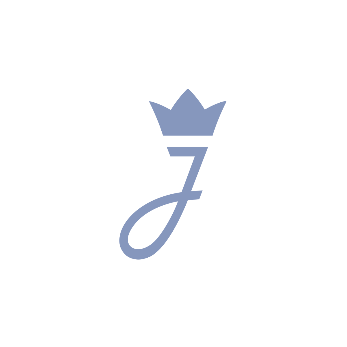 Real company logo Letter J, Crown.