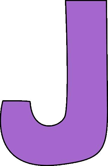 Purple Letter J Clip Art.