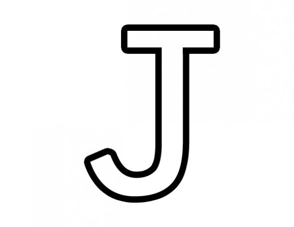 Perfect J Clip Art.
