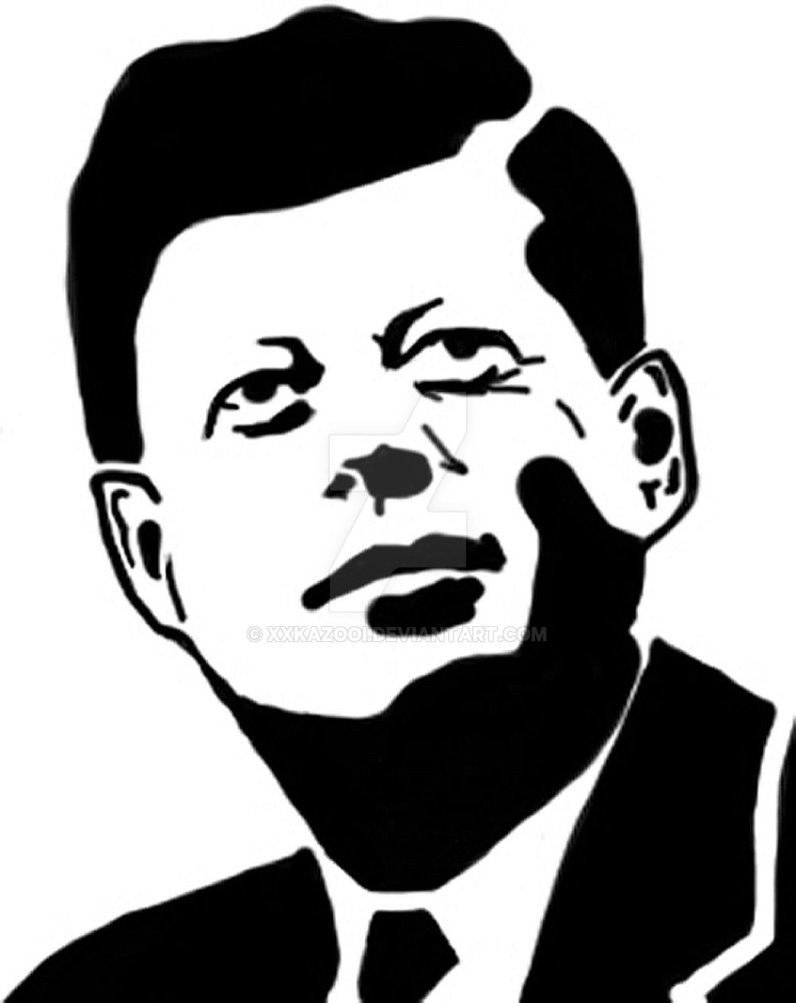 Jfk Cartoon Drawing.