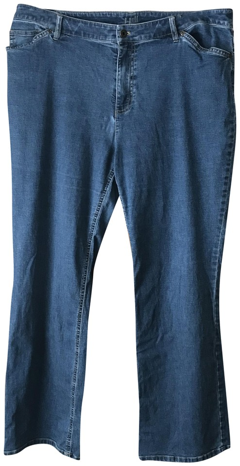 J. Jill Blue 16/Petite Medium Wash Tried/True Boot Cut Jeans Size 16 (XL,  Plus 0x).