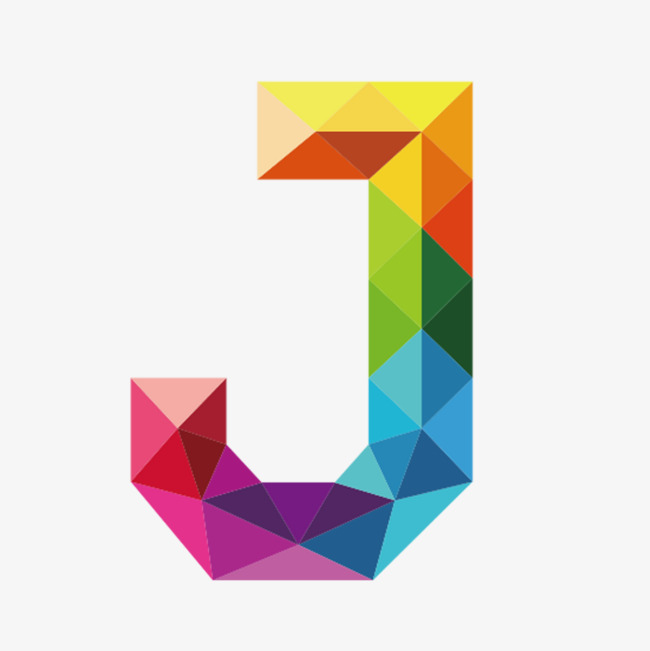 Colorful Letters J, Letter, J, Colorful PNG Transparent Image and.