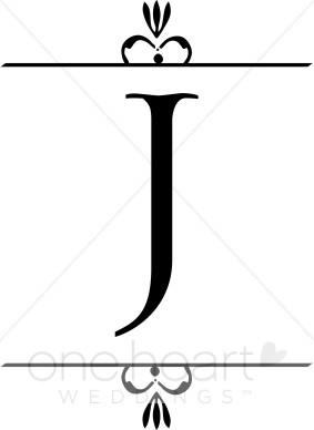 Wedding Monogram J Clipart.