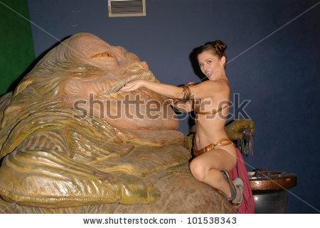 Alicia Arden Slave Leia Day Tour Stock Photo 101538343.