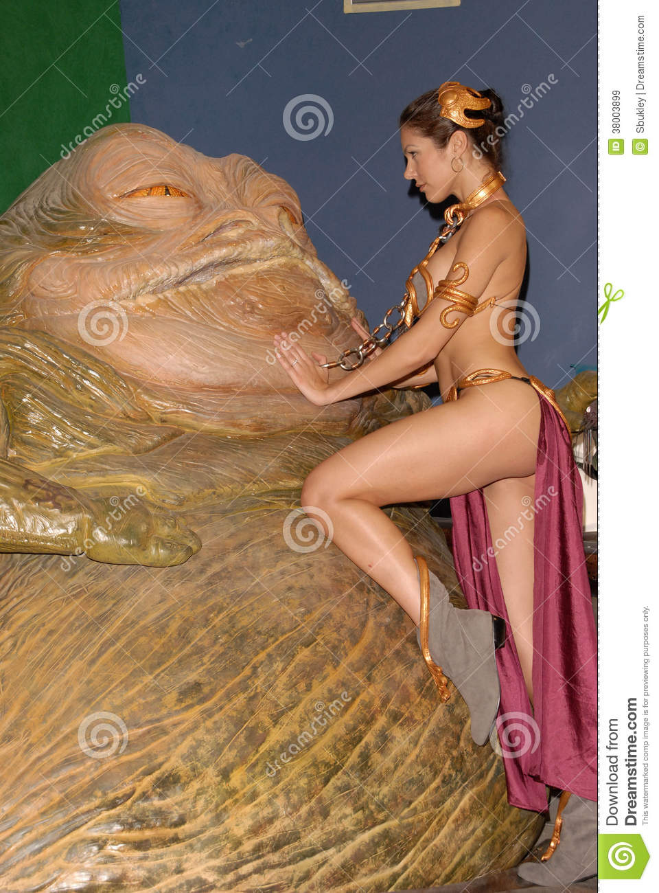 Adrianne Curry,Jabba Editorial Stock Image.