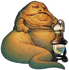 Jabba the hutt star wars clipart.
