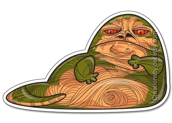 Jabba the Hutt Mega Magnet by creationsbyjoel on Etsy.
